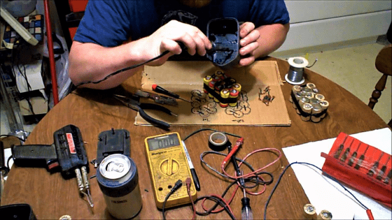 making a cordless drill battery charger