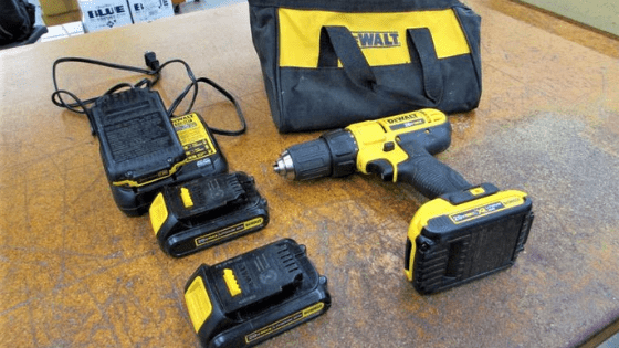 20v max Dewalt cordless drills with carrying case